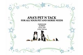 Ana's Pet n Tack sponsoring Grayshott Cricket Club