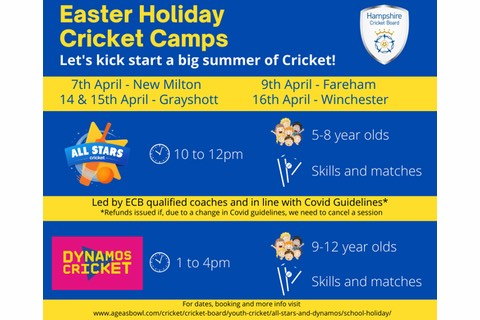 Easter Holiday Cricket Camps